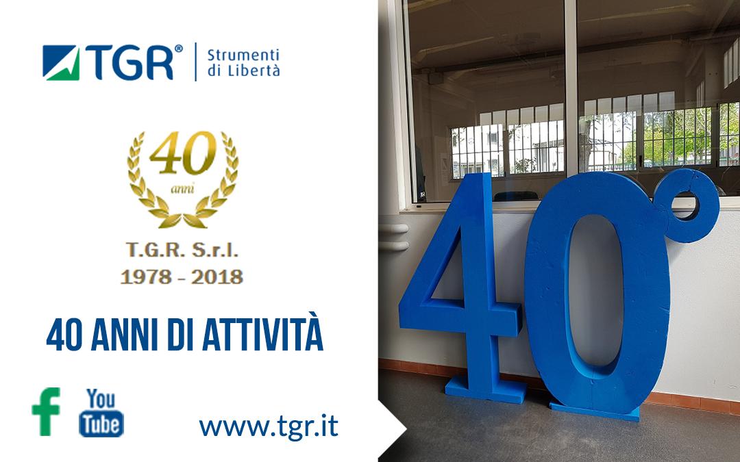 TGR festeggia i 40 anni di attività e l'inizio dello sviluppo del nuovo montascale Sirena