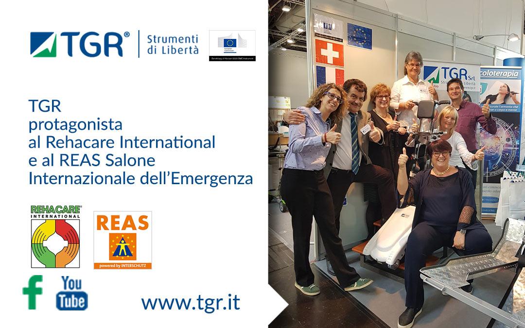 TGR protagonista al Rehacare International e al REAS Salone Internazionale dell'Emergenza