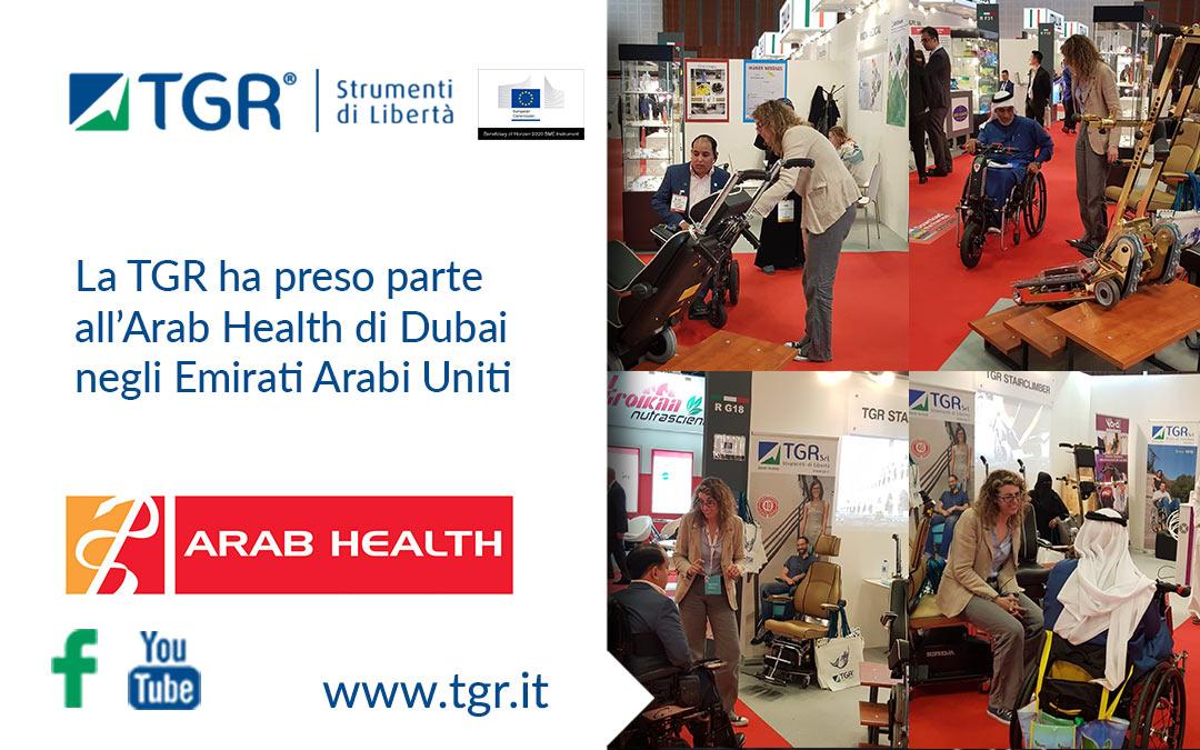La TGR ha preso parte all'Arab Health di Dubai negli Emirati Arabi Uniti