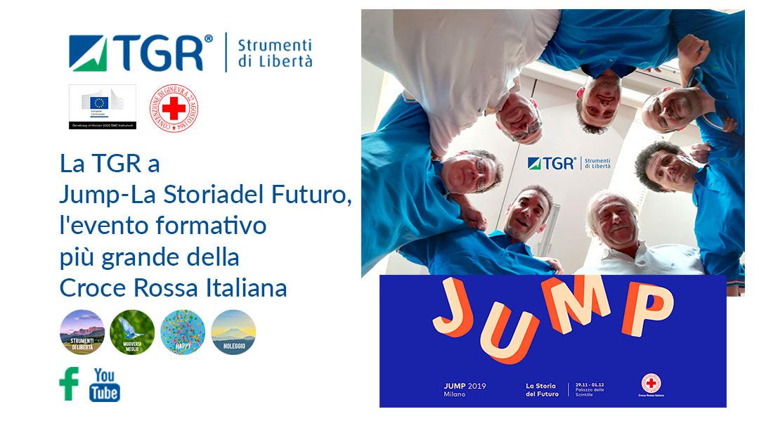 La TGR a Jump – La Storia del Futuro, l'evento formativo più grande della Croce Rossa Italiana