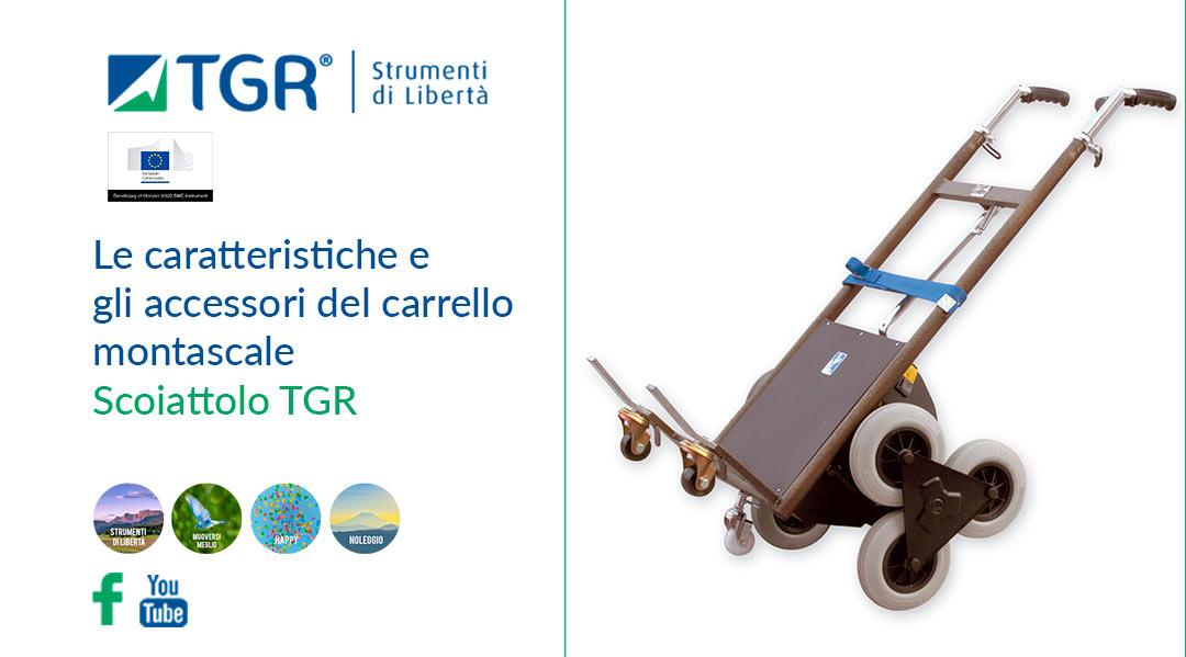 Le caratteristiche e gli accessori del carrello montascale Scoiattolo TGR